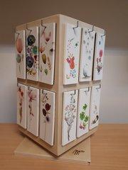 Cadeau-bloemenkaartjes - Boekenleggers