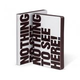 52408 - Notitieboek A5 - Nothing To See Here, zacht leer, thermo_
