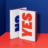 52293 - Notitieboek A5 - Yes - No, zacht leer_