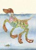 E044 - zwemmende hond_