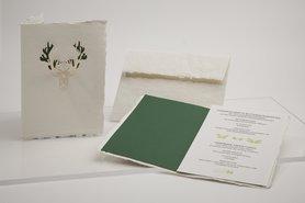 0187 - rendier handgeschept papier