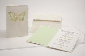 0183 - vlinder handgeschept papier