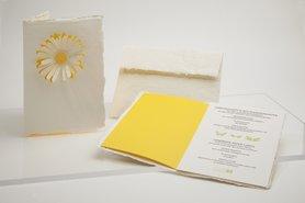 0286 - zomerbloem handgeschept papier