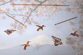 318 - vogels en vlinders / cherry blossom