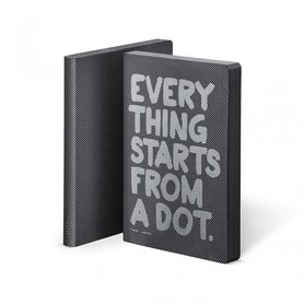 52156 - Notitieboek A5 - Everything Starts from a dot, zacht leer