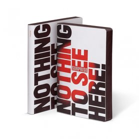 52408 - Notitieboek A5 - Nothing To See Here, zacht leer, thermo