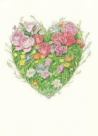 E092 - hart van bloemen en gras