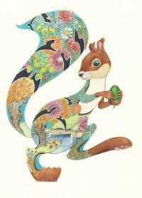 E093 - turquoise eekhoorn