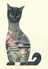 E001 - zwarte kat