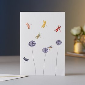 EH012 - Dragonflies & Aliums