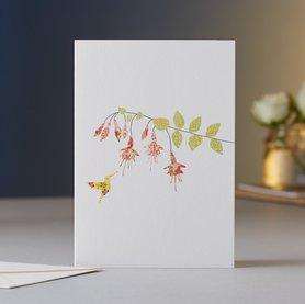 EH013 - Fuchsia & Hummingbird