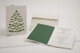 0639 - dennenboom 2 handgeschept papier