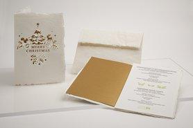 0641 - Merry Christmas handgeschept papier