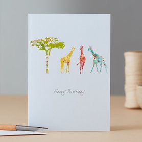 EH085 - Giraffe & Tree Birthfday