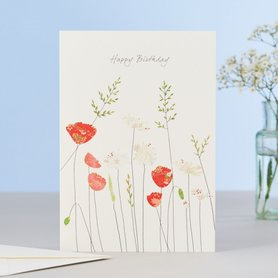 EH140 - Poppies & Daisies Birthday
