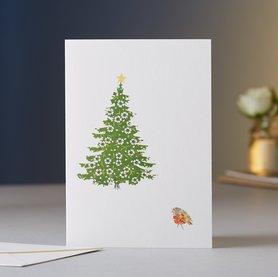EH079 - Robin & Christmas Tree