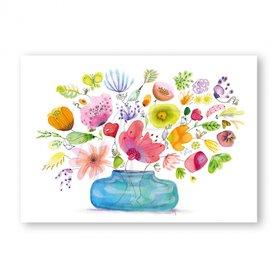 MP135 Lovely blue vase