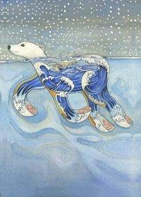 E119 -  zwemmende ijsbeer
