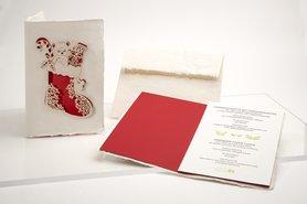 1206 - Christmas Stocking handgeschept papier