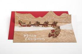 619 - Santa Claus met slee Pop Up