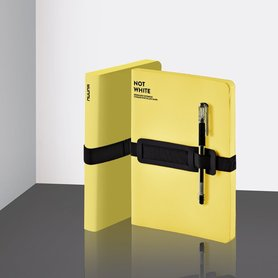 54990 - Notitieboek A5 - Not White Yellow