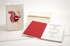 1529- eekhoorn handgeschept papier