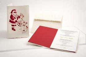 1528- kerstman handgeschept papier