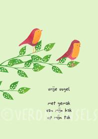 B140-010 - kaart vrije vogel