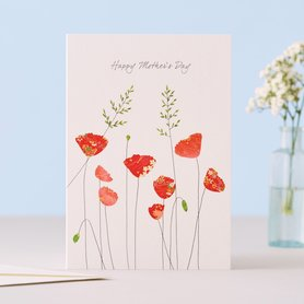 EH106 - poppies  Mother's Day
