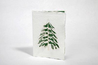 0185 - dennenboom handgeschept papier