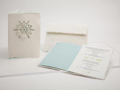 0365 - sneeuwvlok handgeschept papier