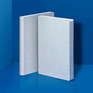 52378 - Notitieboek A5 - Glowing Pixels, zacht leer, fluorescerende