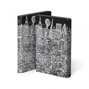 52040 - Notitieboek A5 - Londen, zacht leer