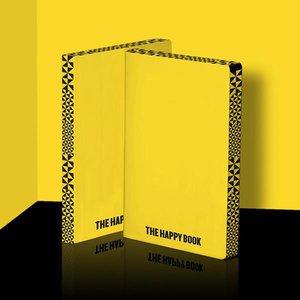 53375 - Notitieboek A5 - The Happy Book, zacht leer