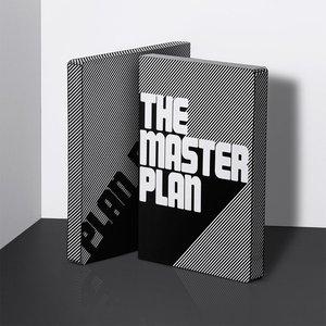 51968 - Notitieboek A5 - The Master Plan, zacht leer