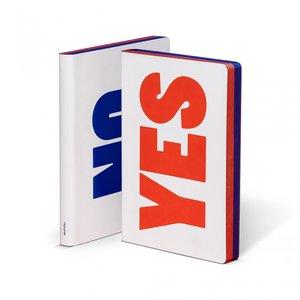 52293 - Notitieboek A5 - Yes - No, zacht leer