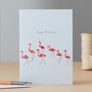 EH086 - Flamingo Dance Birthday