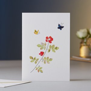 EH011 - Rose & Butterflies