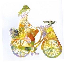 JL3D013 - vrouw op de fiets