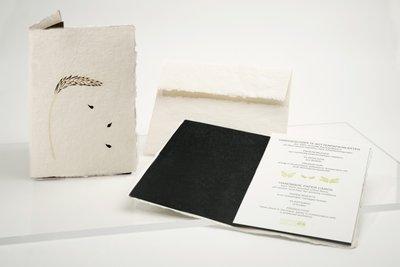 0544 - tarwe halm handgeschept papier