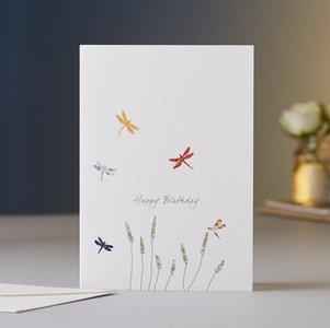 EH025 - Dragonflies & Grass Birthday