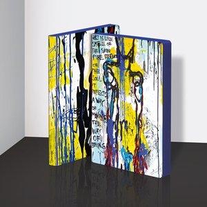 54983 - Notitieboek A5 - Art is Like bij Marija Mandic zacht leer